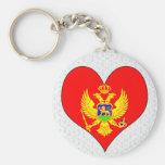 I Love Montenegro Keychains