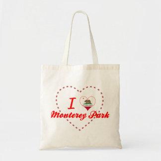 I Love Monterey Park California Canvas Bags