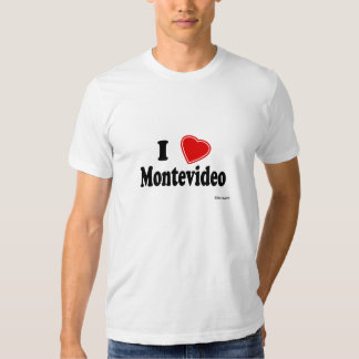 I Love Montevideo T Shirt