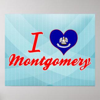 I Love Montgomery, Louisiana Poster