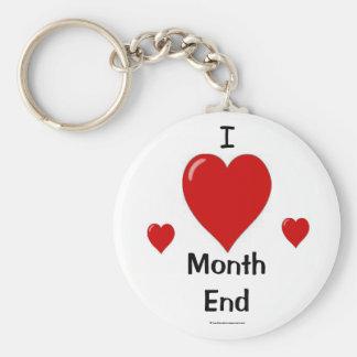 I Love Month End! Basic Round Button Keychain