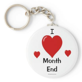 month end keychain