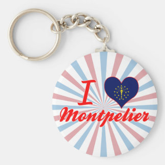 I Love Montpelier, Indiana Key Chains
