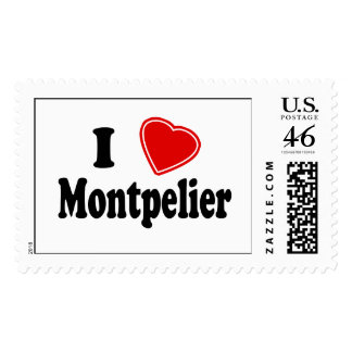 I Love Montpelier Postage Stamps