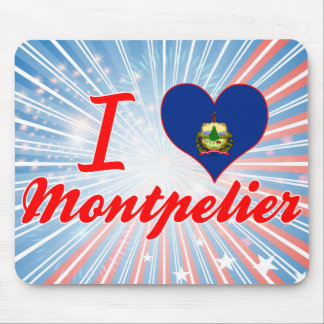 I Love Montpelier, Vermont Mouse Pad