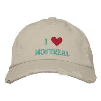 I LOVE MONTREAL BASEBALL CAP
