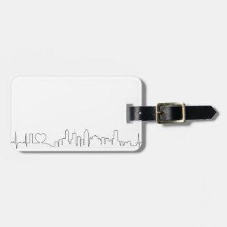 I love Montréal in an extraordinary ecg style Tags For Luggage