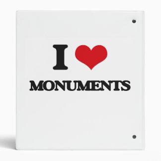 I Love Monuments Binder