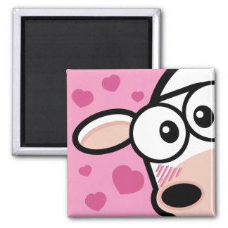I Love Moo Cow Magnet