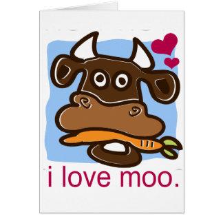 I Love Moo Greeting Card