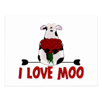 I Love Moo Postcard