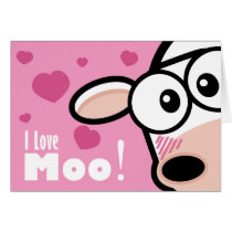 I Love Moo Valentine's Card