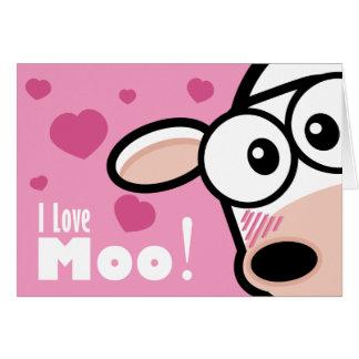 I Love Moo Valentine's Card