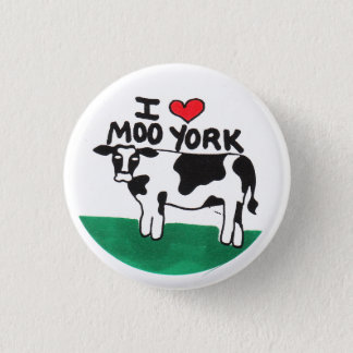 I Love Moo York Pinback Button