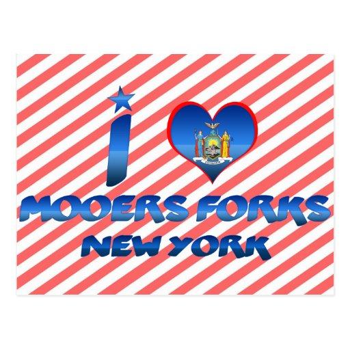 I love Mooers Forks, New York Postcard