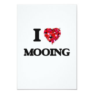 I Love Mooing 3.5x5 Paper Invitation Card