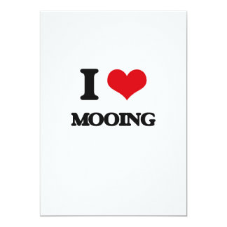 I Love Mooing 5x7 Paper Invitation Card