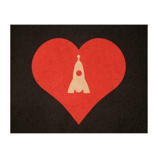 I Love Moon Landing Design Cork Fabric