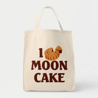 I Love Mooncake Grocery Tote Bag