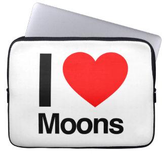 i love moons computer sleeves