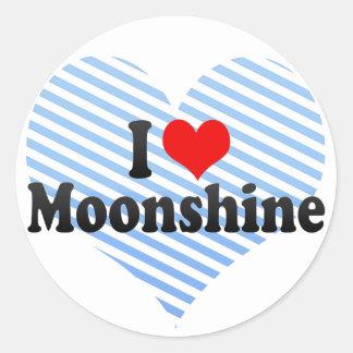 I Love Moonshine Classic Round Sticker