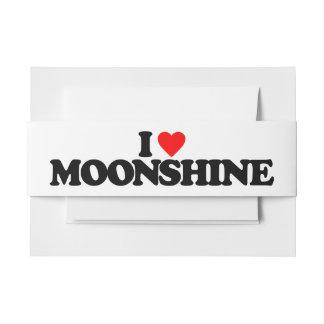 I LOVE MOONSHINE INVITATION BELLY BAND