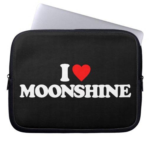 I LOVE MOONSHINE COMPUTER SLEEVES