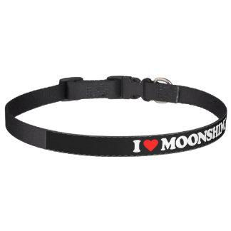 I LOVE MOONSHINE PET COLLAR