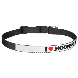 I LOVE MOONSHINE PET COLLAR