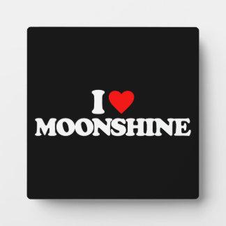 I LOVE MOONSHINE DISPLAY PLAQUES