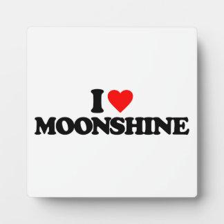 I LOVE MOONSHINE PHOTO PLAQUE