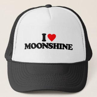 I LOVE MOONSHINE TRUCKER HAT