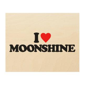 I LOVE MOONSHINE WOOD CANVAS
