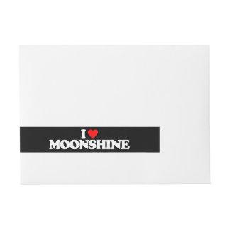 I LOVE MOONSHINE WRAP AROUND ADDRESS LABEL