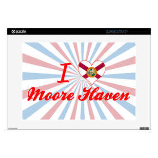 """I Love Moore Haven Florida Decal For 15"""" Laptop"""