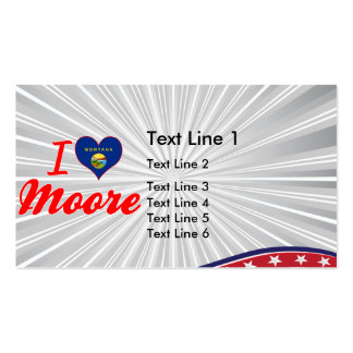 I Love Moore, Montana Business Card Templates