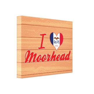 I Love Moorhead, Iowa Canvas Print