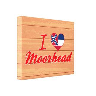 I Love Moorhead, Mississippi Canvas Prints