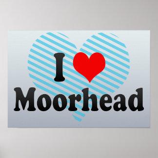 I Love Moorhead, United States Print