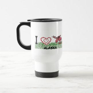 I LOVE MOOSE ALASKA Coffee Mug
