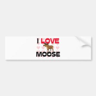 I Love Moose Bumper Sticker