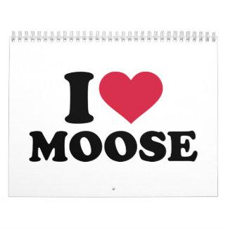 I love moose calendar