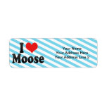 I Love Moose Custom Return Address Labels
