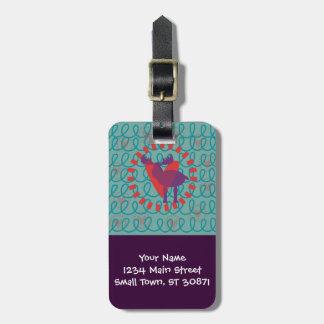 I love Moose Heart Doodle Nature Lover Design Bag Tag