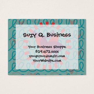 I love Moose Heart Doodle Nature Lover Design Business Card