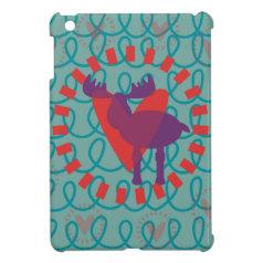 I love Moose Heart Doodle Nature Lover Design iPad Mini Cases