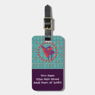 I love Moose Heart Doodle Nature Lover Design Luggage Tags