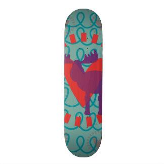 I love Moose Heart Doodle Nature Lover Design Custom Skateboard