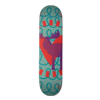 I love Moose Heart Doodle Nature Lover Design Skateboard Deck