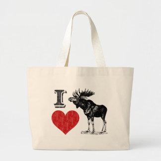 I Love Moose Jumbo Tote Bag
